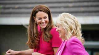 Dr Jill Biden and Kate Middleton met at a school in Cornwall