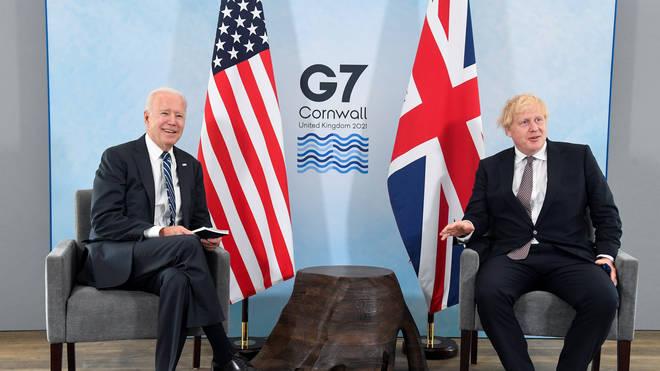 Boris Johnson held talks with a number of leaders ahead of the summit, including US President Joe Biden