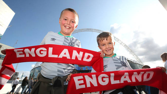 England fans are set to enjoy the warmest day of the year so far when they visit Wembley on Sunday