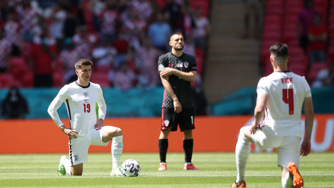 England players took the knee before their opening Euro 2020 match against Croatia