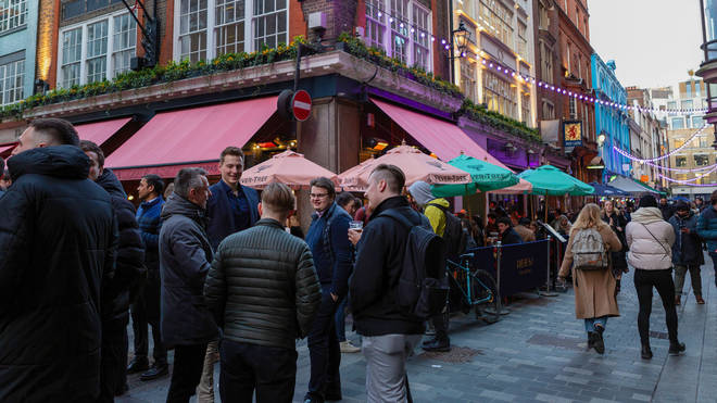 People in England can meet up to 30 people outside, but the rule of six still applies indoors