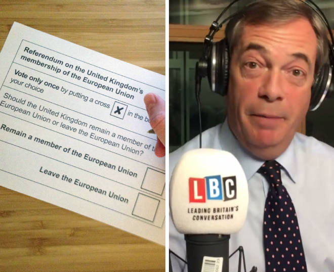 Nigel Farage was broadcasting his show from the EU Parliament