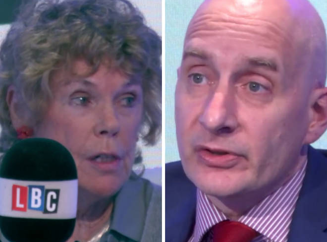 Brexiteer Kate Hoey sparked the row during an LBC debate