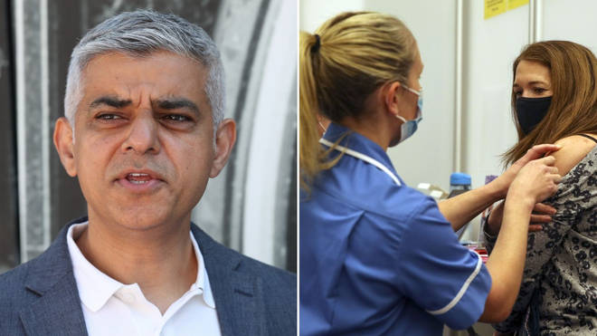Sadiq Khan has called for more jabs to vaccinate young Londoners