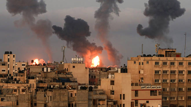 The airstrikes are the first flare up of tensions since the ceasefire in May ended 11 days of violence