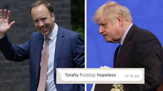 "Dominic Cummings posted whatsapps purporting to show the PM said Matt Hancock was ""f***ing hopeless"""