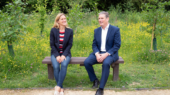 Jo Cox's sister, Kim Leadbeater, met with Labour leader Keir Starmer as a part of her campaign trail.