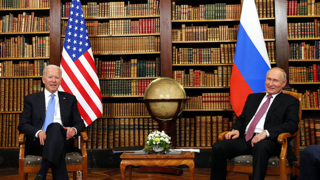 Joe Biden is speaking to Vladimir Putin in Geneva