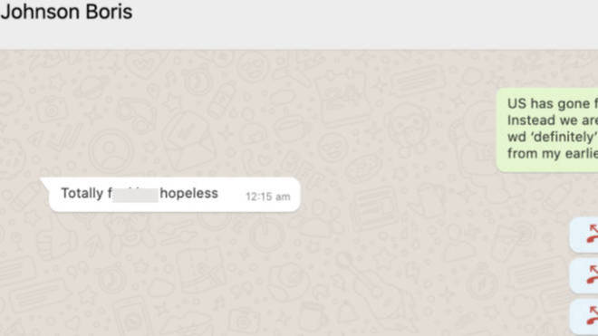 Cummings leaks 'PM's Whatsapp exchange over Hancock'