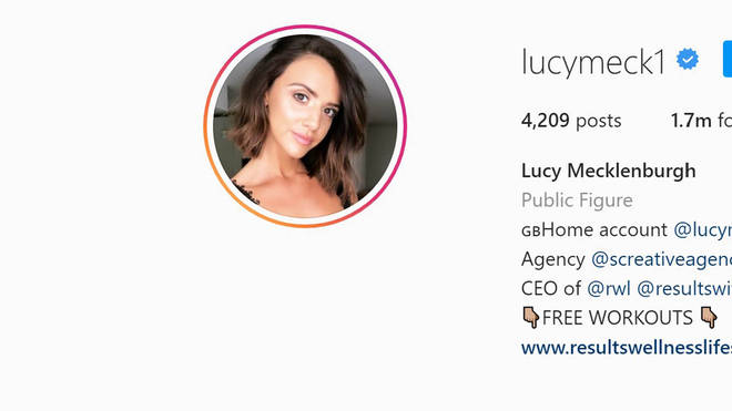 Lucy Mecklenburgh's Instagram profile