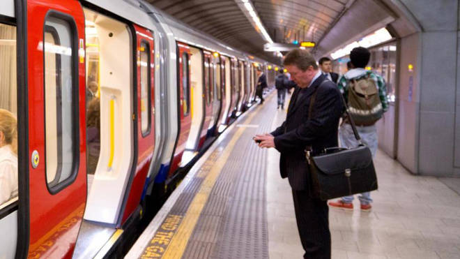 A user gets a mobile signal on the tube