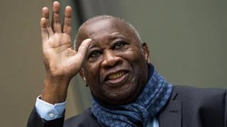 Former Ivory Coast president Laurent Gbagbo