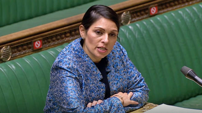 """Priti Patel wrote she was """"deeply ashamed"""" by the figures"""