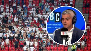 Sadiq Khan was speaking to LBC's James O'Brien