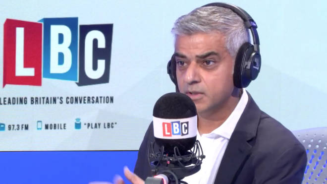 Sadiq Khan spoke to LBC from Paris, France on Tuesday afternoon