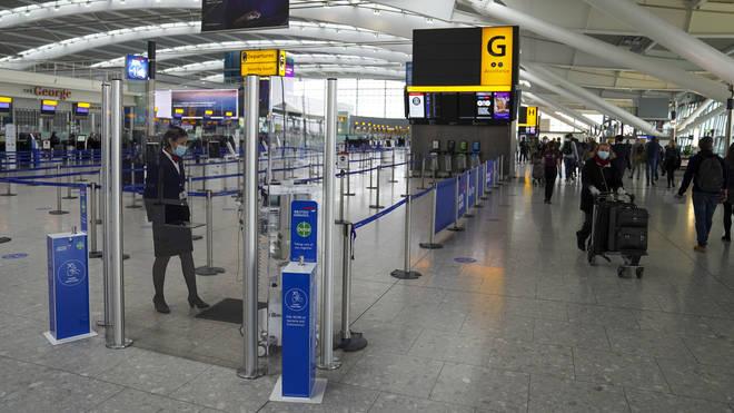 Departures area at Heathrow