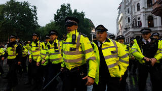 18 men were arrested in London yesterday during Euro 2020 celebrations