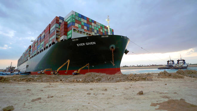 The Ever Given has been detained following the operation to free the massive vessel which ran aground in March
