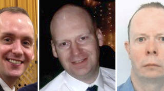 History teacher James Furlong, 36, scientist Dr David Wails, 49, and Joseph Ritchie-Bennett, 39, all died in the Reading terror attack last year