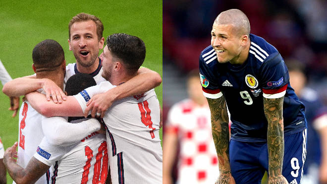 England progressed to the next round of the Euros while Scotland were knocked out