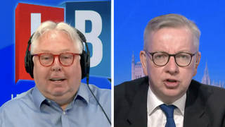 The moment Michael Gove loses bet with Nick Ferrari over England v Scotland