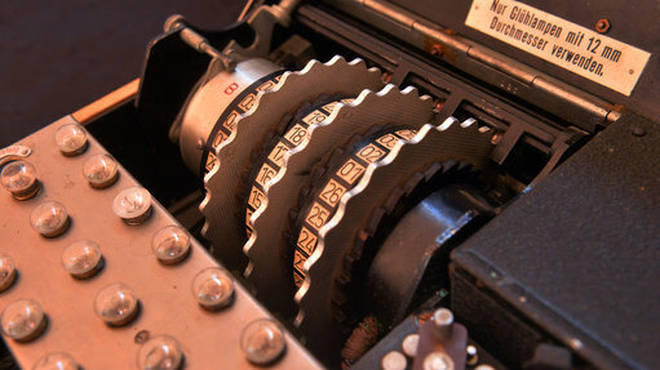 The Enigma device used the cypher messages by the Germans in WW2