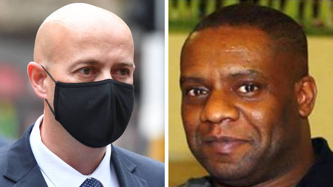 Monk, left, was convicted of Dalian Atkinson's (right) manslaughter