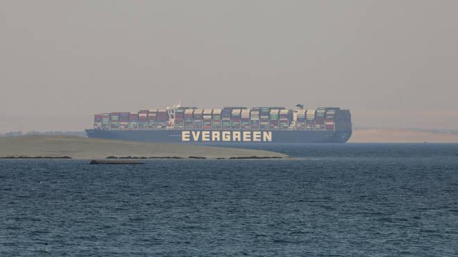 The Ever Given cargo ship