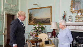 The Queen has held her first in-person weekly audience with the Prime Minister since before lockdown began