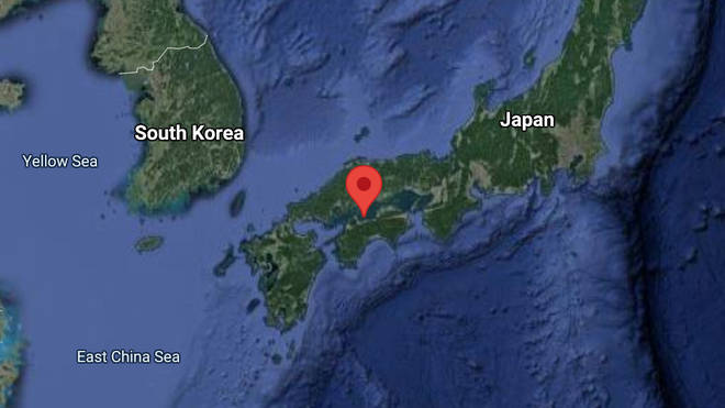 The man was attacked in the Seto Inland Sea of the Japanese archipelago