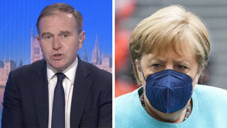 George Eustice hit back at Angela Merkel's call for Brits to be quarantined across the EU