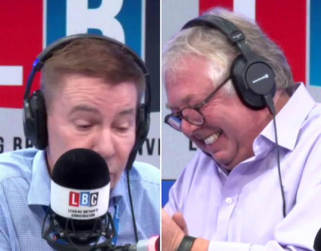 Nick Ferrari was left in hysterics by Andrew Pierce