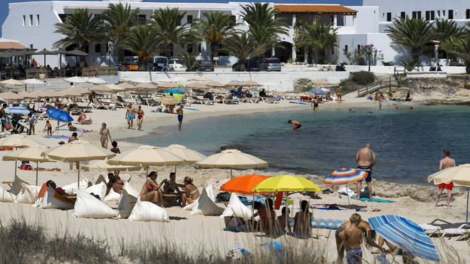 England's green travel list has been updated to include Ibiza, Majorca and Malta