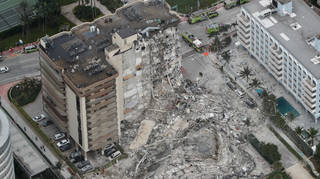One death has been confirmed, following the collapse of the apartments.