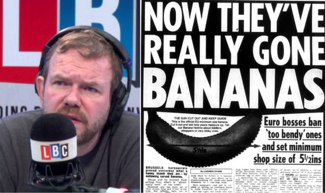 James O'Brien reads out the fake news on the EU