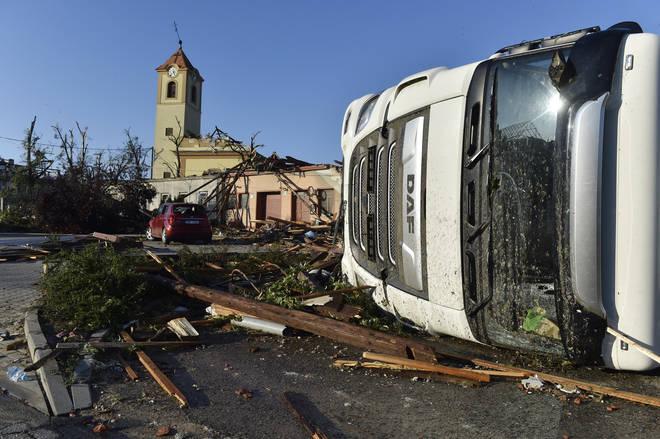 Tornado damage in Czech Republic