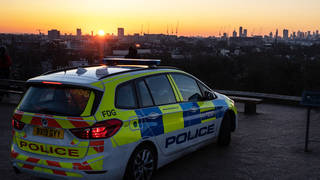 A police officer has suffered burns during an incident in south London