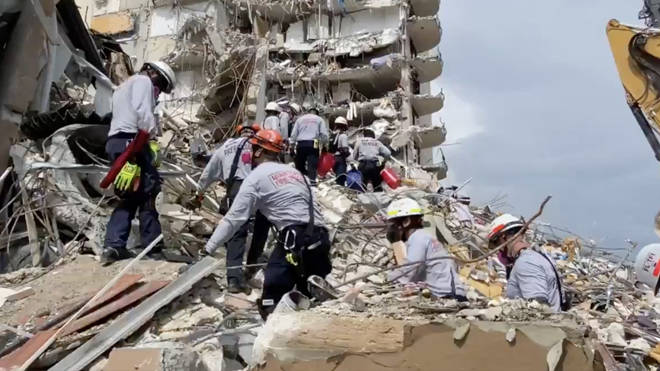 Officials are still investigating the cause of the collapse