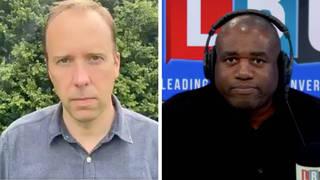 David Lammy's merciless reaction to Matt Hancock's resignation
