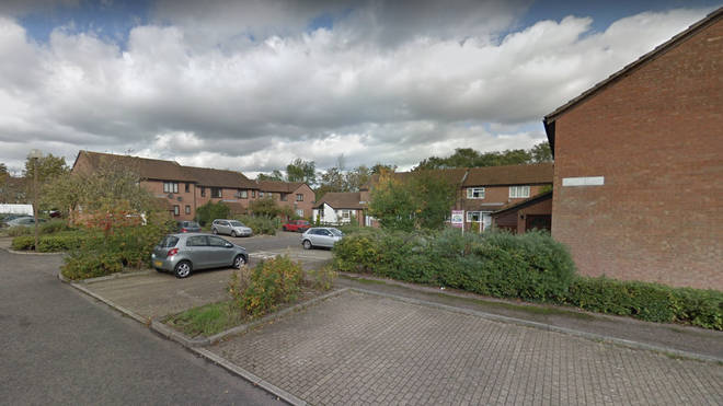 A man was shot dead at the property in Milton Keynes