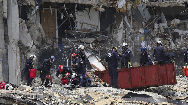 The search for survivors at the partially-collapsed Champlain Towers South in Miami is ongoing