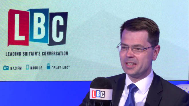 James Brokenshire in the LBC studio