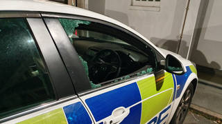 West Midlands Police posted a photo of the damage (@ResponseWMP)