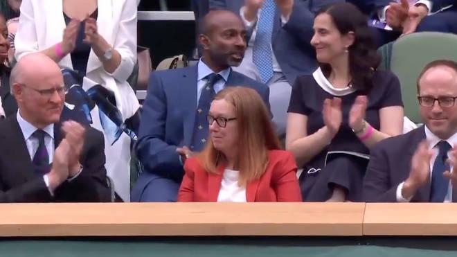 Dame Sarah Gilbert receives a standing ovation