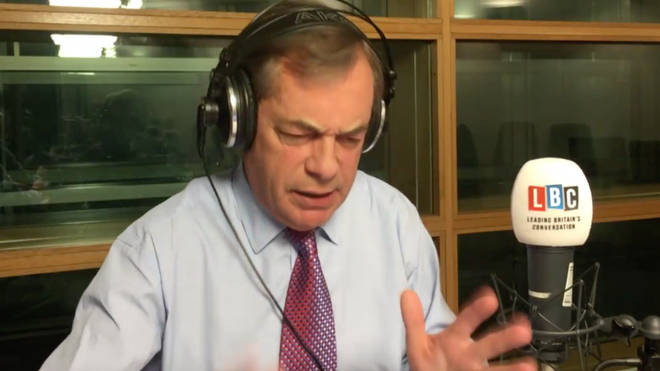 Nigel Farage was furious as he broadcast from the European Parliament