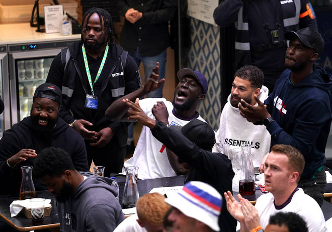 Stormzy was among those gathered in Boxpark, Croydon