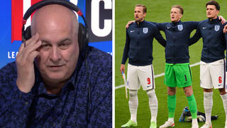 Caller takes pride in England footballers taking knee but not in them singing national anthem