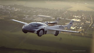 The AirCar has now completed up to 40 hours of test flights, with this journey taking about 35 minutes