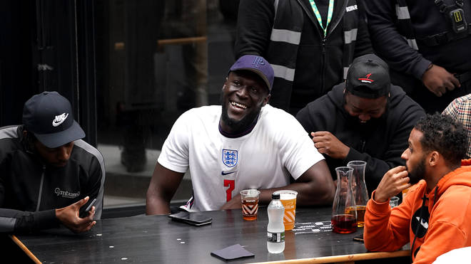 Stormzy watched England in Croydon
