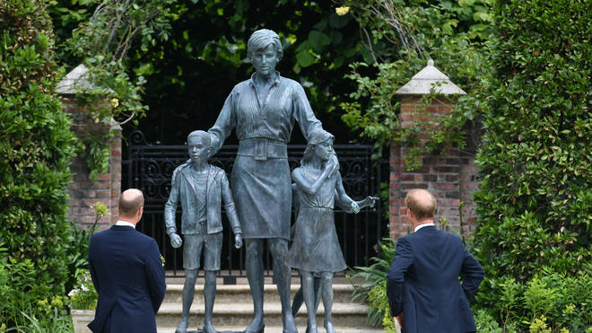 The statue of Diana was unveiled on what would have been her 60th birthday